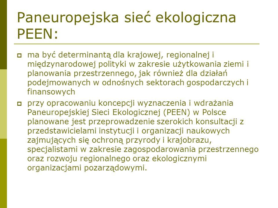 Paneuropejska sieć ekologiczna PEEN: