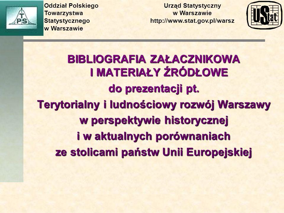 BIBLIOGRAFIA ZAŁACZNIKOWA I MATERIAŁY ŹRÓDŁOWE do prezentacji pt.