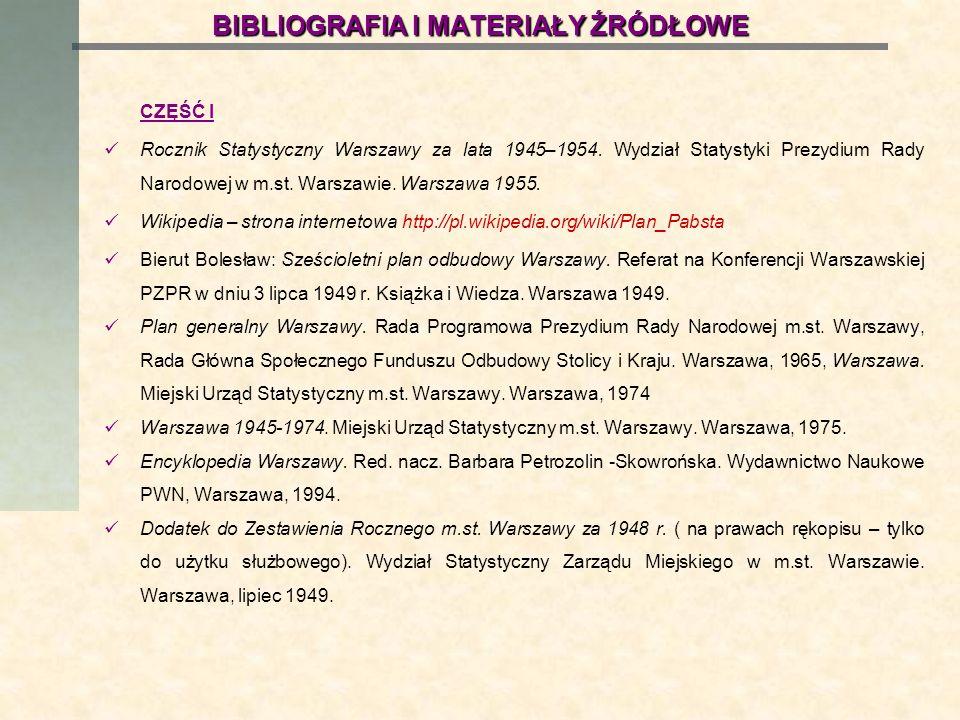 BIBLIOGRAFIA I MATERIAŁY ŹRÓDŁOWE