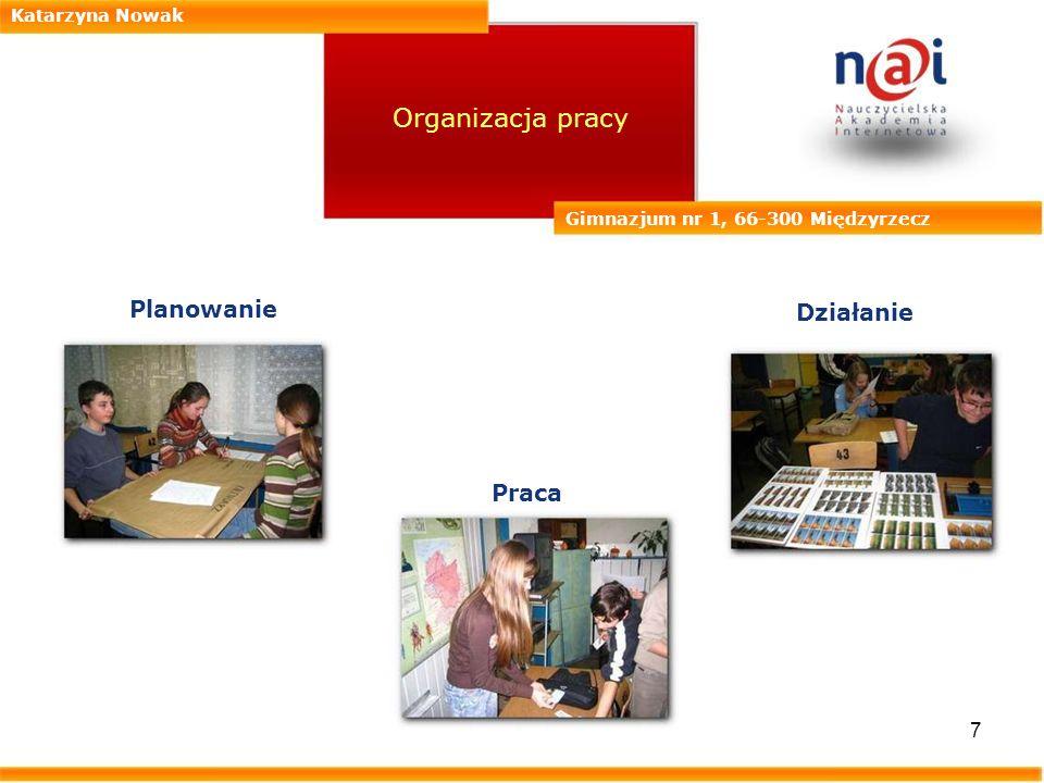 Organizacja pracy Planowanie Działanie Praca Katarzyna Nowak