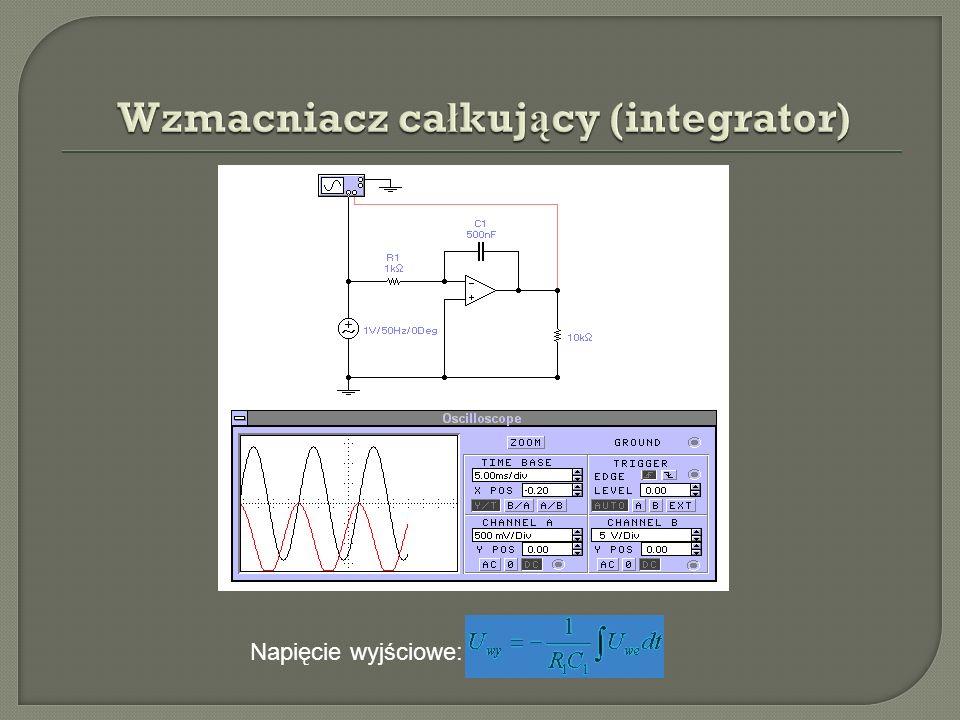 Wzmacniacz całkujący (integrator)