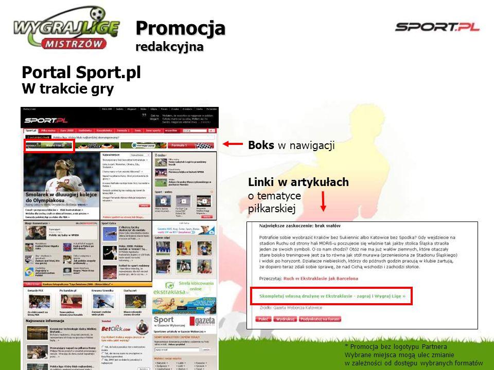 Promocja redakcyjna Portal Sport.pl W trakcie gry Boks w nawigacji