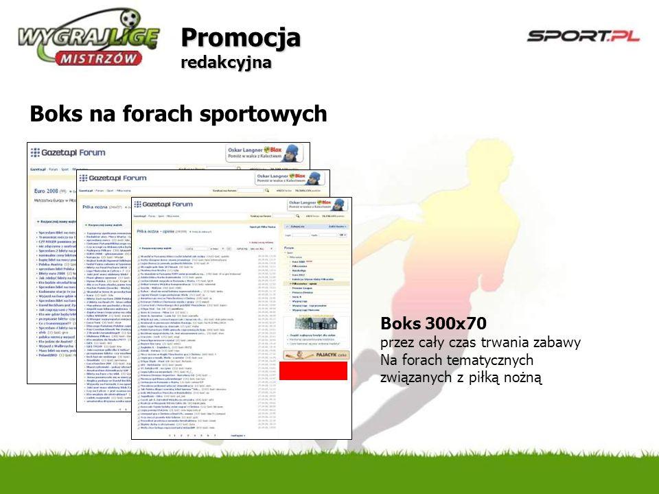 Promocja redakcyjna Boks na forach sportowych