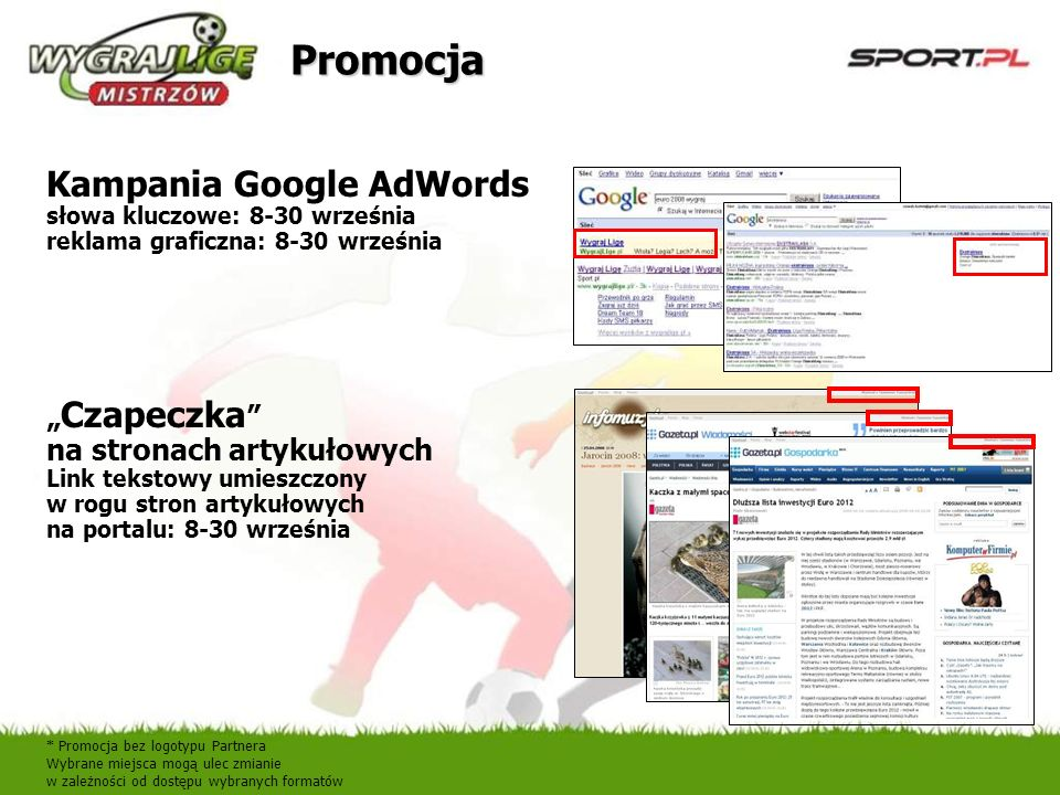 PromocjaKampania Google AdWords słowa kluczowe: 8-30 września reklama graficzna: 8-30 września.