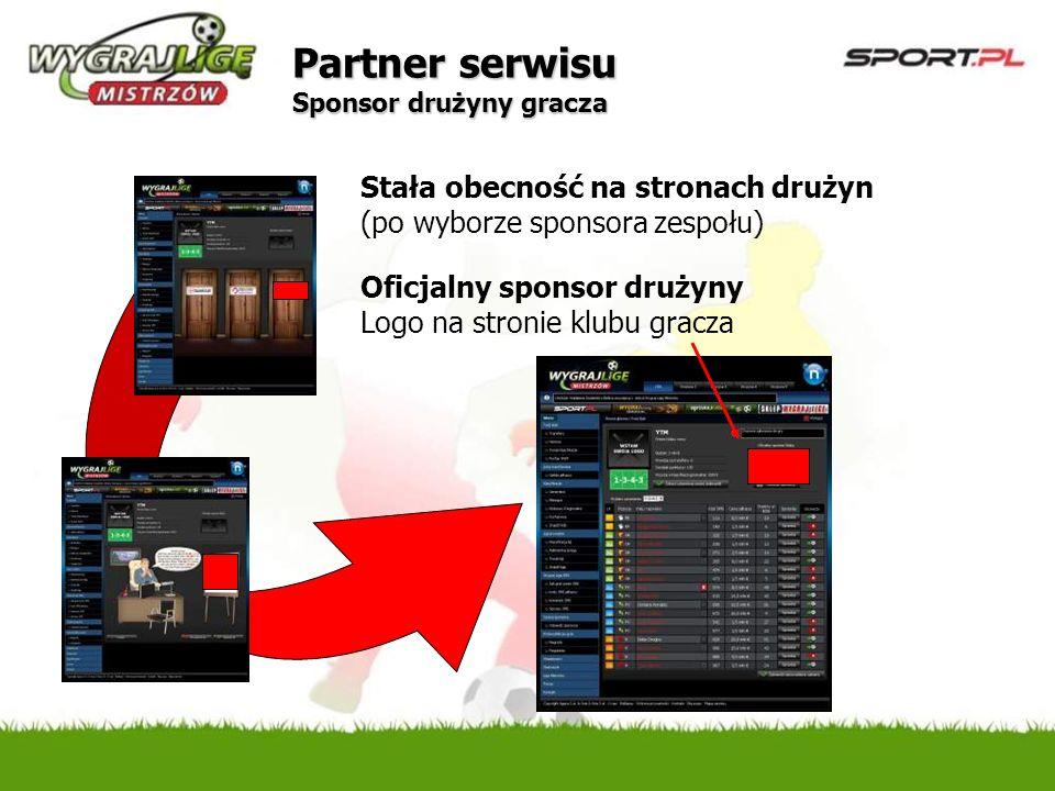 Partner serwisu Sponsor drużyny gracza