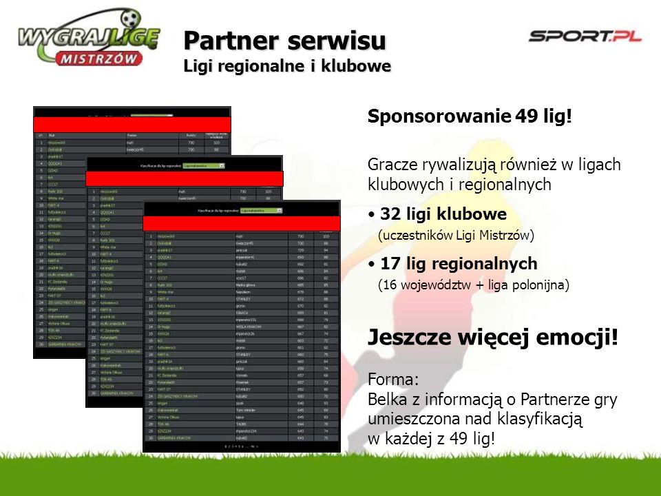 Partner serwisu Ligi regionalne i klubowe