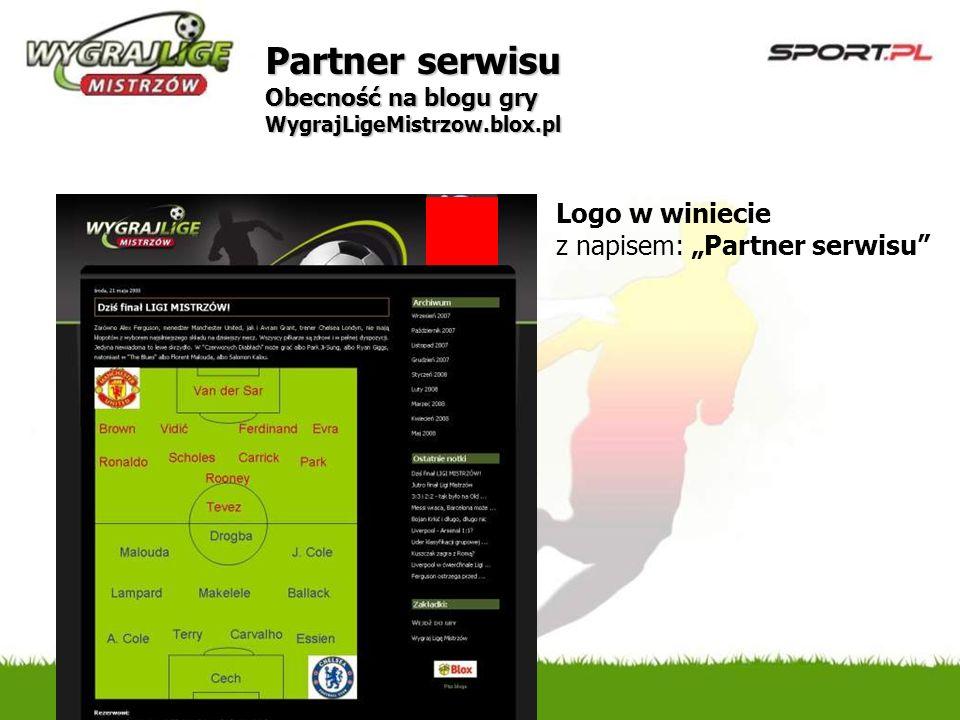 Partner serwisu Obecność na blogu gry WygrajLigeMistrzow.blox.pl