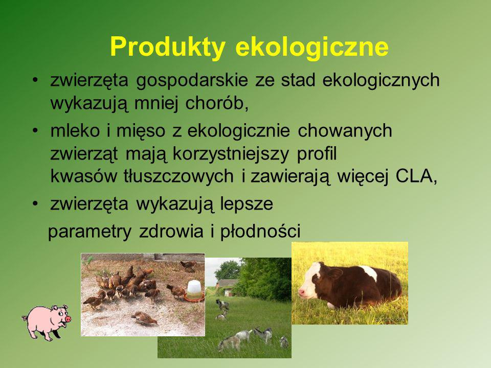 Produkty ekologicznezwierzęta gospodarskie ze stad ekologicznych wykazują mniej chorób,