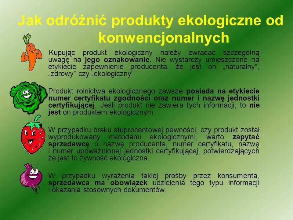 Jak odróżnić produkty ekologiczne od konwencjonalnych