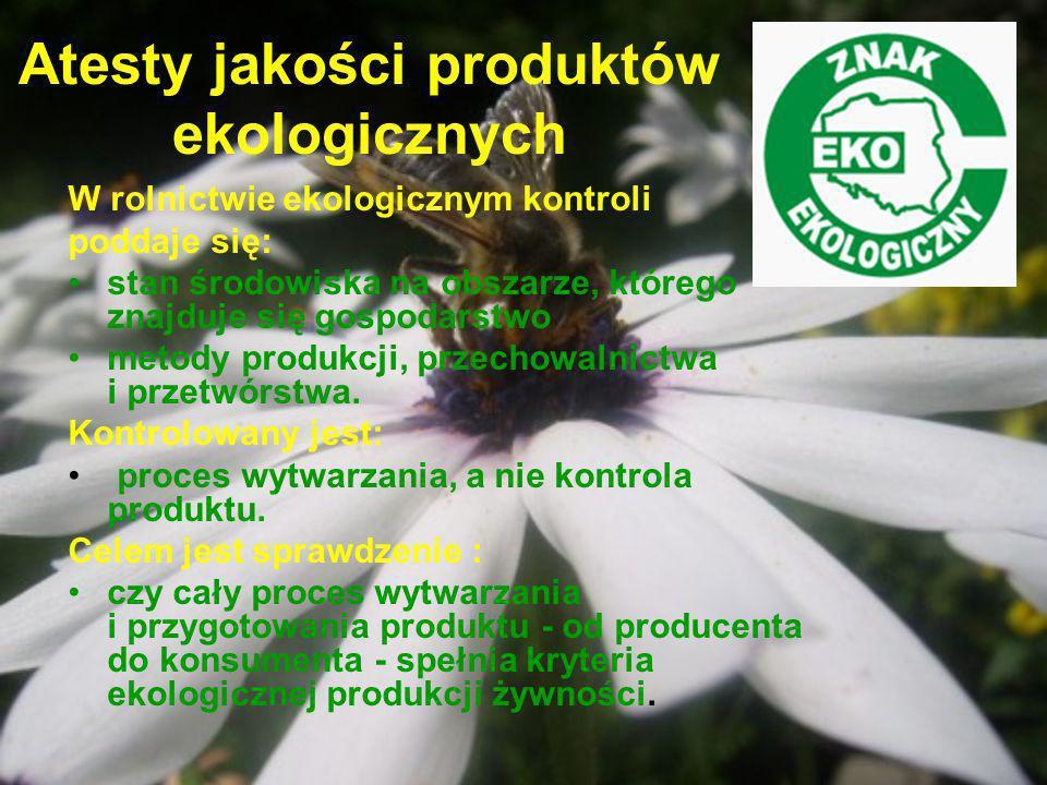 Atesty jakości produktów ekologicznych