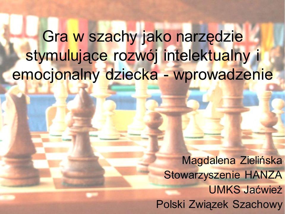 Gra w szachy jako narzędzie stymulujące rozwój intelektualny i emocjonalny dziecka - wprowadzenie