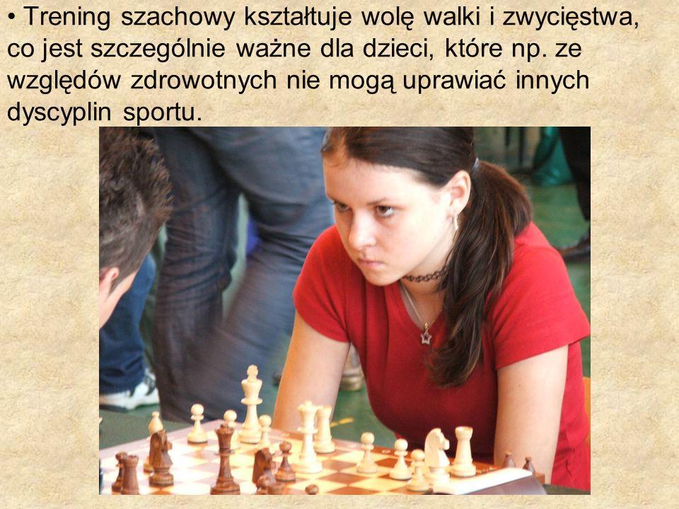 Trening szachowy kształtuje wolę walki i zwycięstwa, co jest szczególnie ważne dla dzieci, które np.