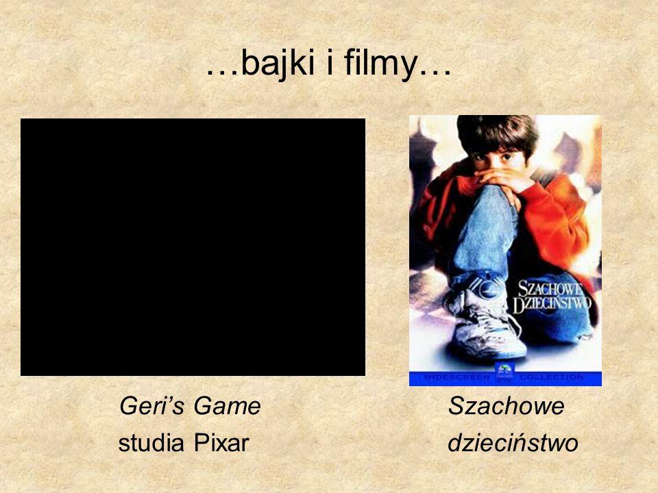 …bajki i filmy… Geri's Game Szachowe studia Pixar dzieciństwo