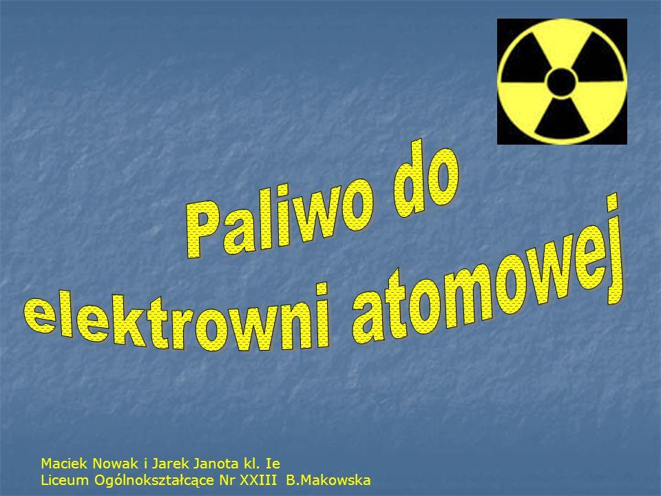 Paliwo do elektrowni atomowej Maciek Nowak i Jarek Janota kl. Ie