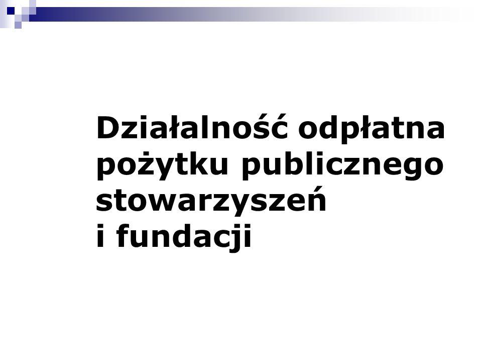 Działalność odpłatna pożytku publicznego stowarzyszeń