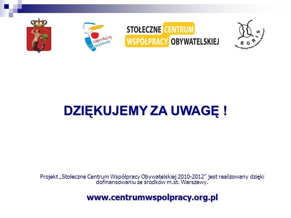 DZIĘKUJEMY ZA UWAGĘ ! www.centrumwspolpracy.org.pl