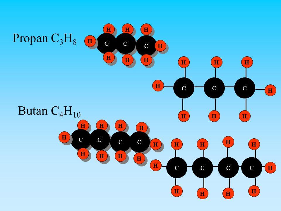 Propan C3H8 Butan C4H10 H H H C C H C H H H H H C C C H H H H C C H C