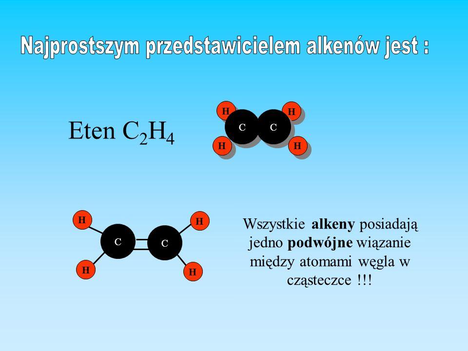 Najprostszym przedstawicielem alkenów jest :