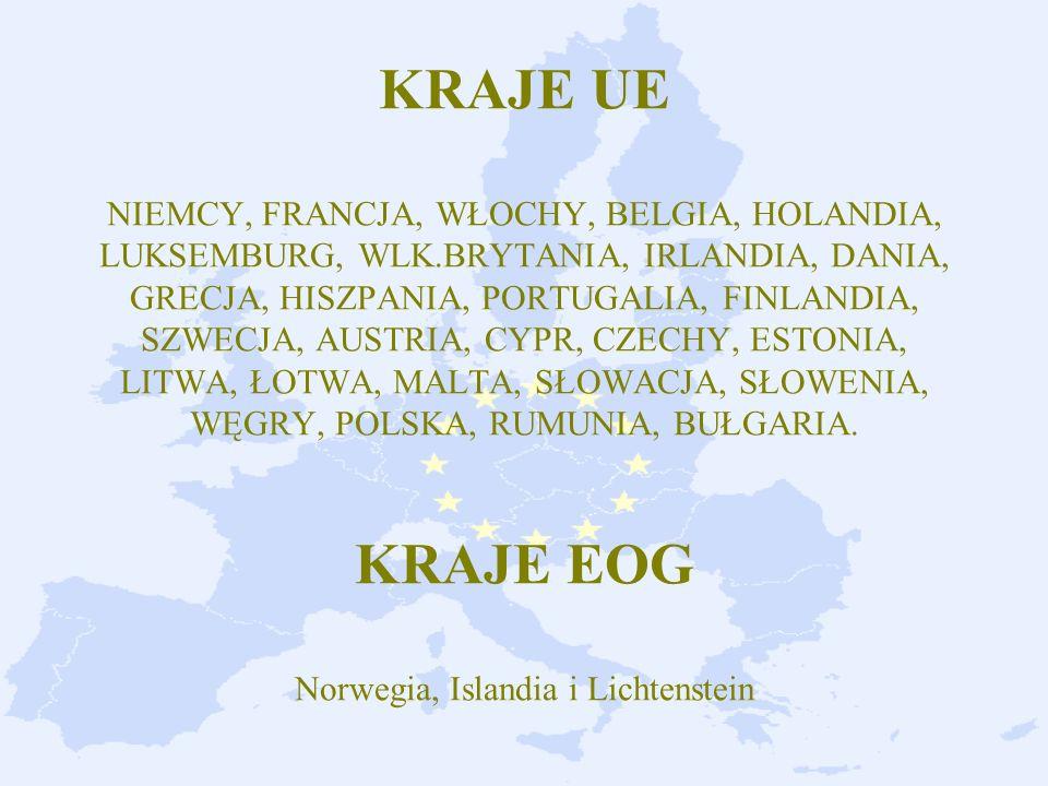 KRAJE UE NIEMCY, FRANCJA, WŁOCHY, BELGIA, HOLANDIA, LUKSEMBURG, WLK