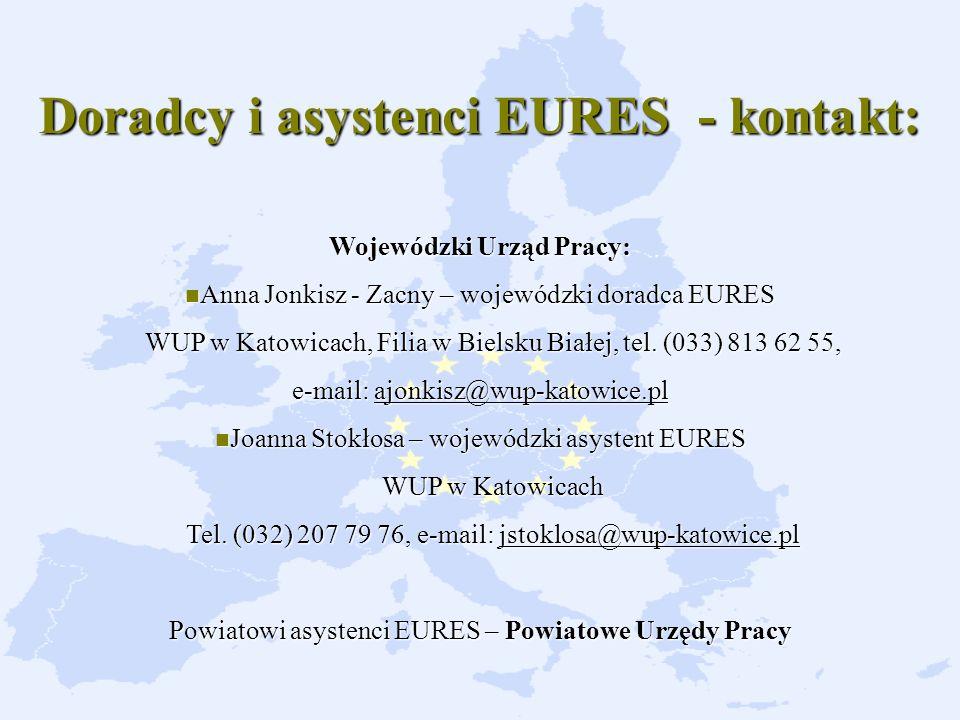 Doradcy i asystenci EURES - kontakt: Wojewódzki Urząd Pracy: