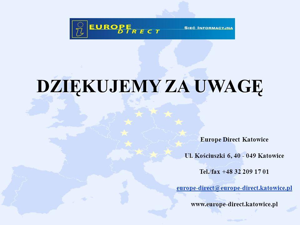 Europe Direct Katowice Ul. Kościuszki 6, 40 - 049 Katowice