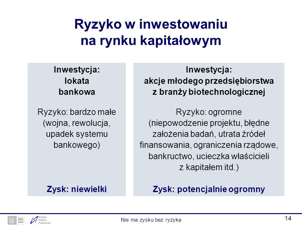 Ryzyko w inwestowaniu na rynku kapitałowym