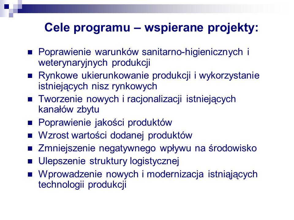 Cele programu – wspierane projekty: