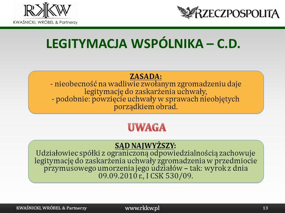 LEGITYMACJA WSPÓLNIKA – C.D.