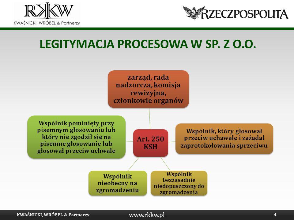 Legitymacja procesowa w Sp. Z o.o.