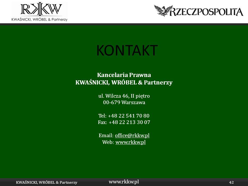 Tytuł prezentacji KWAŚNICKI, WRÓBEL & Partnerzy KWAŚNICKI, WRÓBEL & Partnerzy
