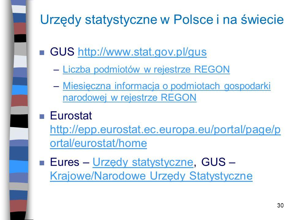 Urzędy statystyczne w Polsce i na świecie