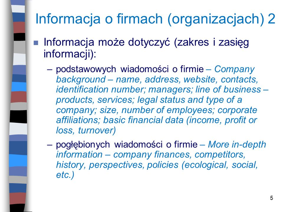 Informacja o firmach (organizacjach) 2