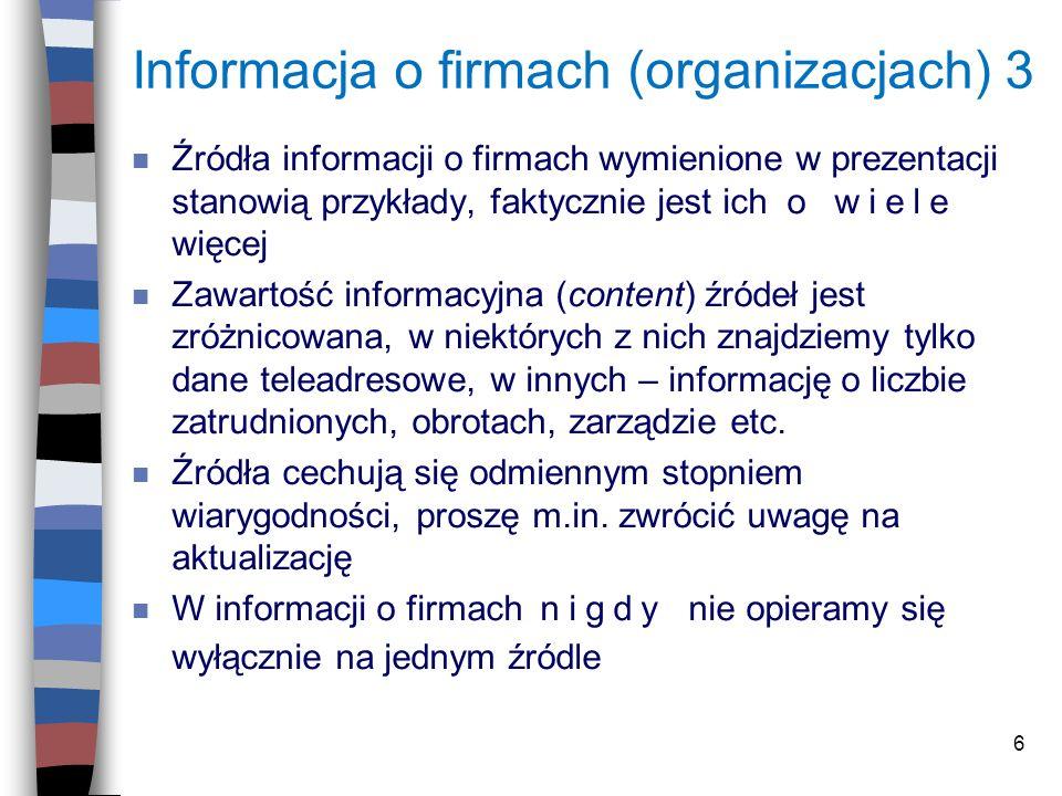 Informacja o firmach (organizacjach) 3