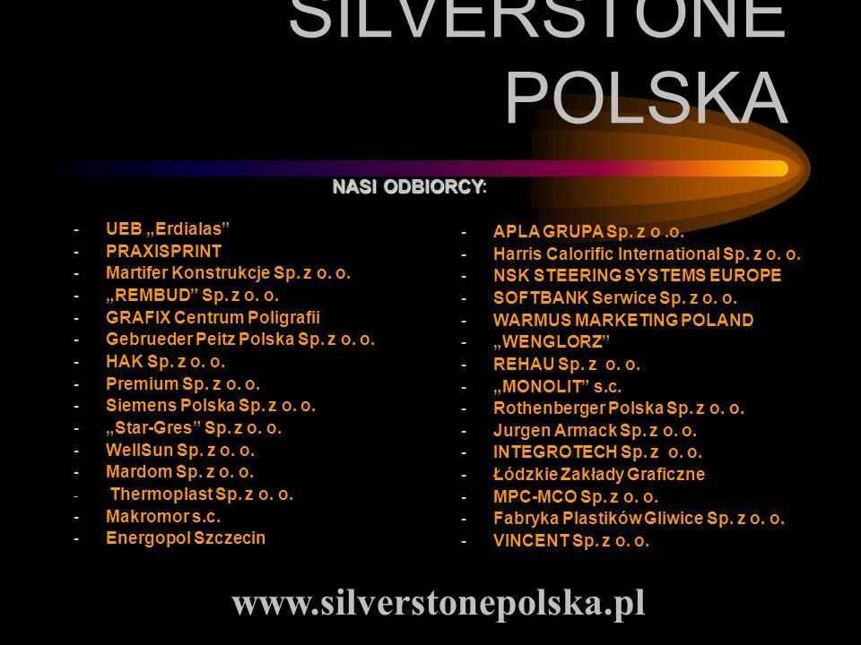 SILVERSTONE POLSKA www.silverstonepolska.pl NASI ODBIORCY: