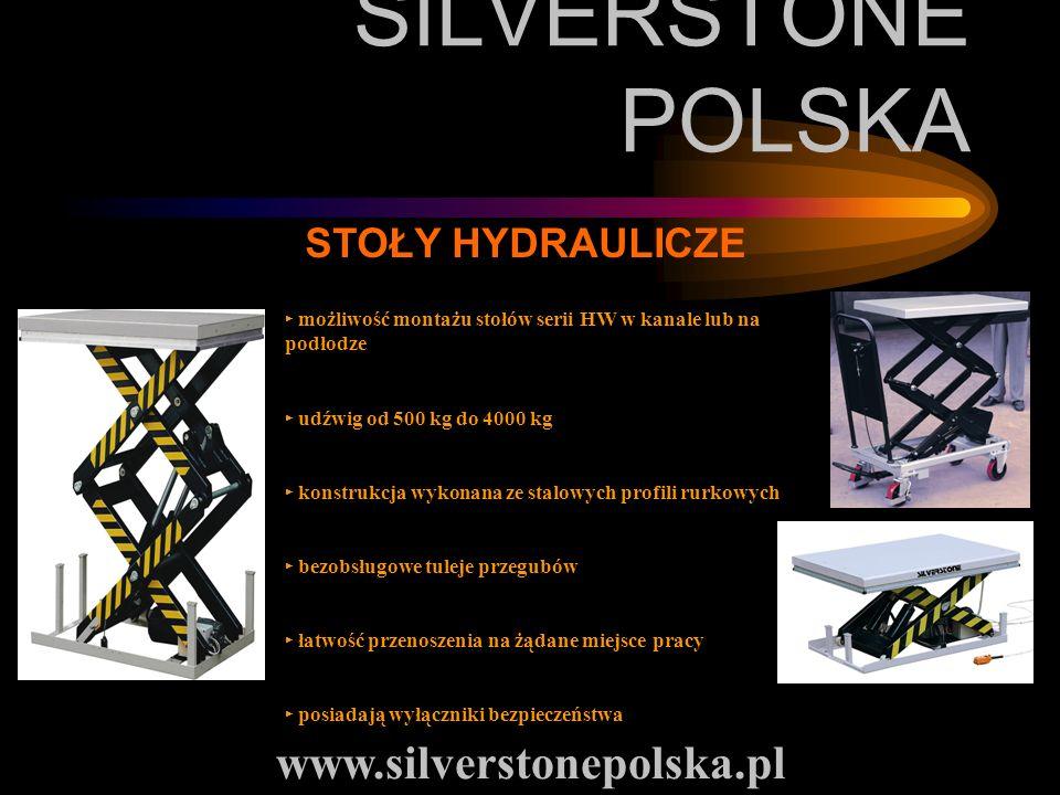 SILVERSTONE POLSKA www.silverstonepolska.pl STOŁY HYDRAULICZE