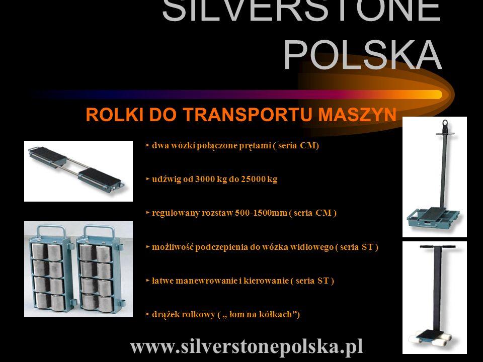 SILVERSTONE POLSKA www.silverstonepolska.pl ROLKI DO TRANSPORTU MASZYN