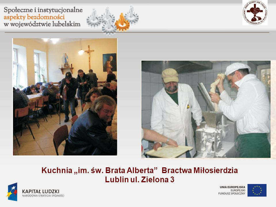 """Kuchnia """"im. św. Brata Alberta Bractwa Miłosierdzia Lublin ul"""