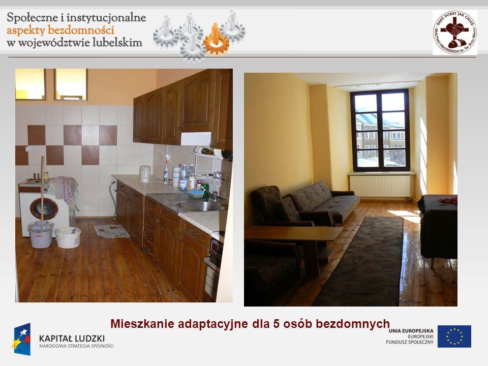 Mieszkanie adaptacyjne dla 5 osób bezdomnych
