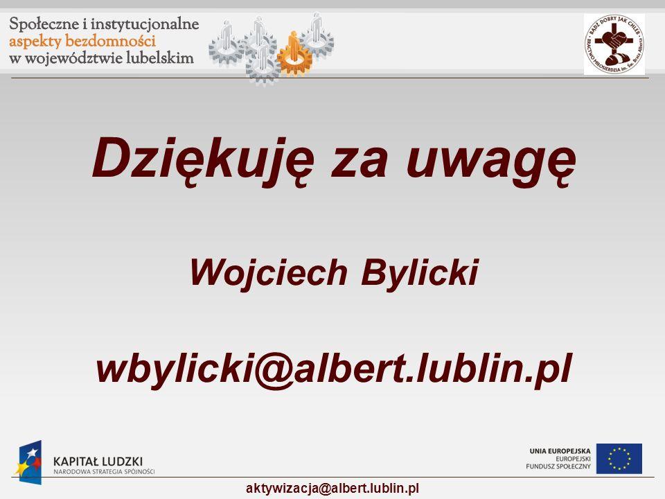 Dziękuję za uwagę Wojciech Bylicki wbylicki@albert.lublin.pl