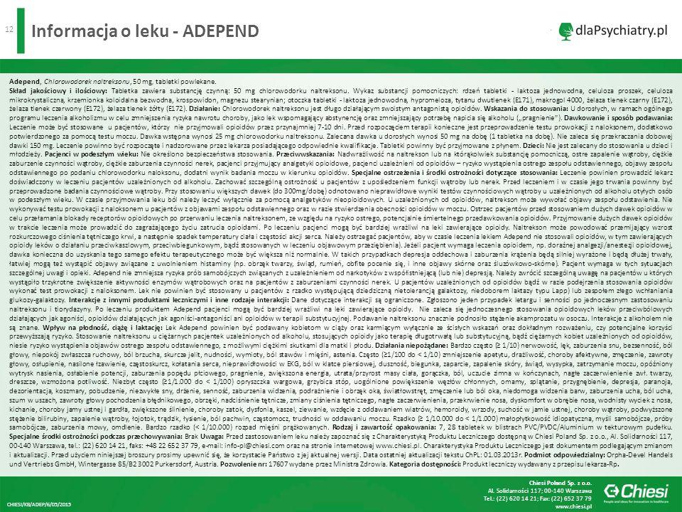 Informacja o leku - ADEPEND