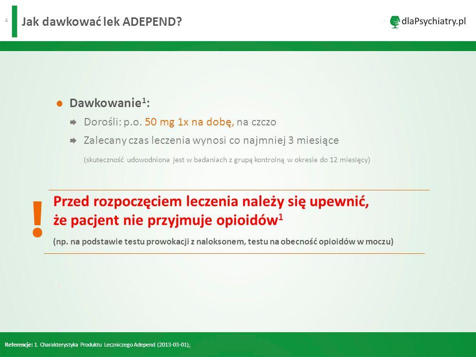Jak dawkować lek ADEPEND