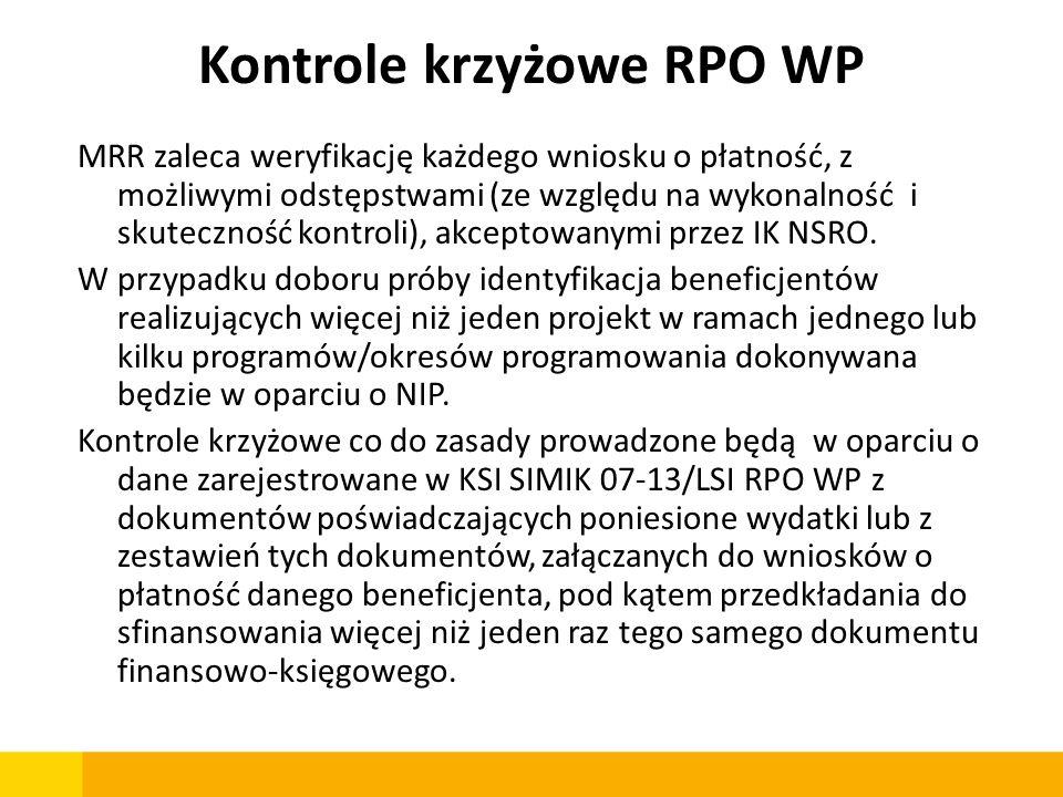 Kontrole krzyżowe RPO WP