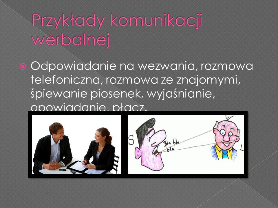 Przykłady komunikacji werbalnej