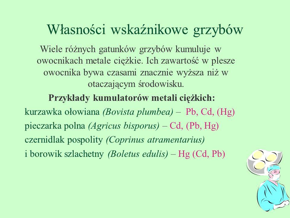 Własności wskaźnikowe grzybów