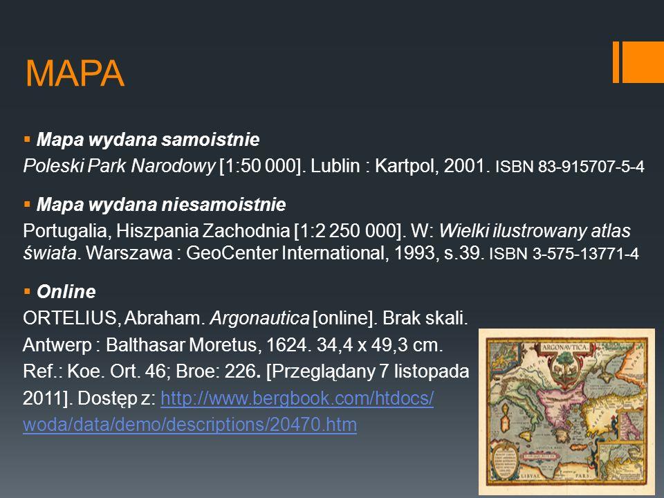 MAPA Mapa wydana samoistnie