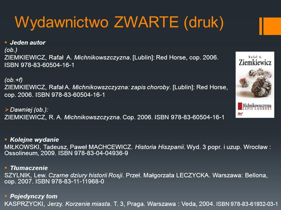 Wydawnictwo ZWARTE (druk).