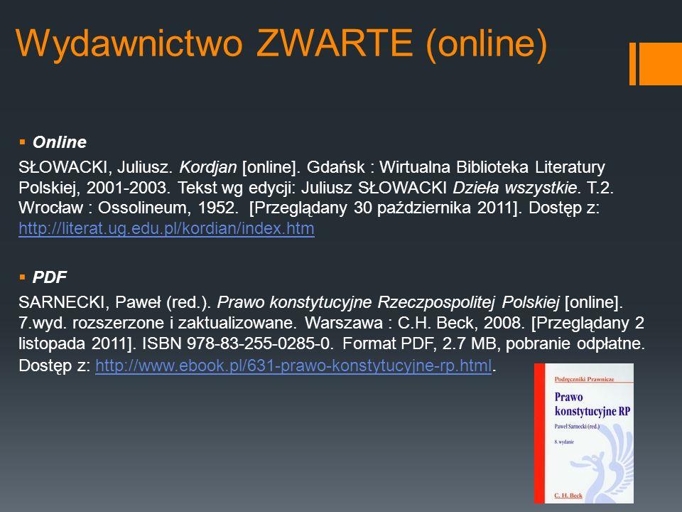 Wydawnictwo ZWARTE (online)