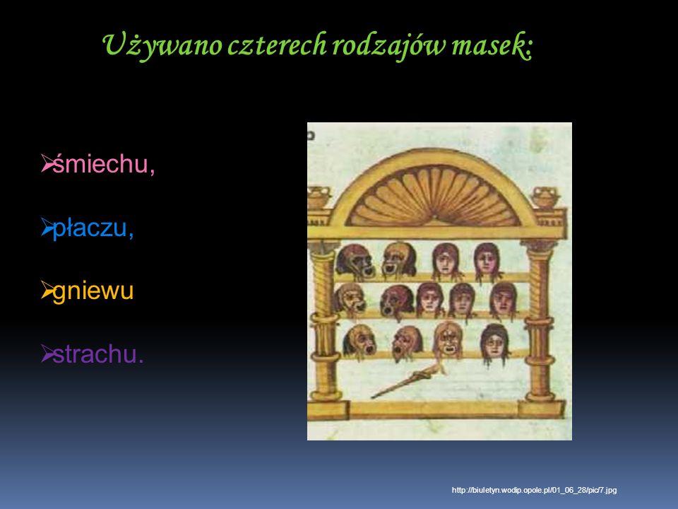 Używano czterech rodzajów masek: