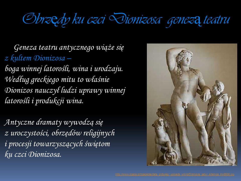 Obrzędy ku czci Dionizosa genezą teatru