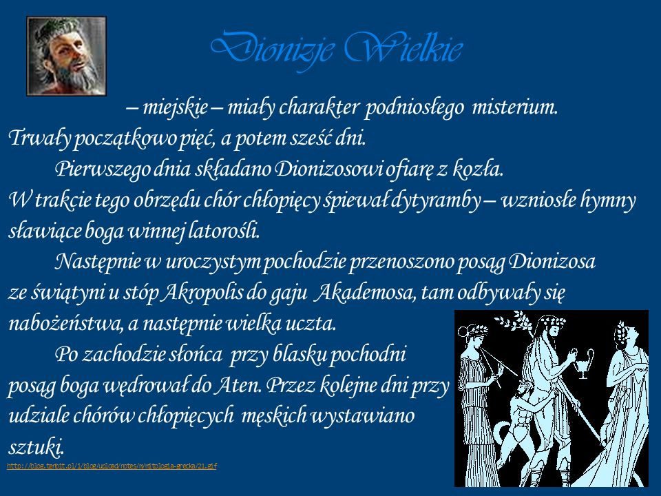 Dionizje Wielkie – miejskie – miały charakter podniosłego misterium